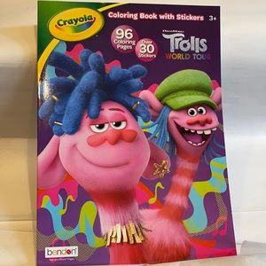 5/$15 Crayola Trolls Coloring Book With Stickers